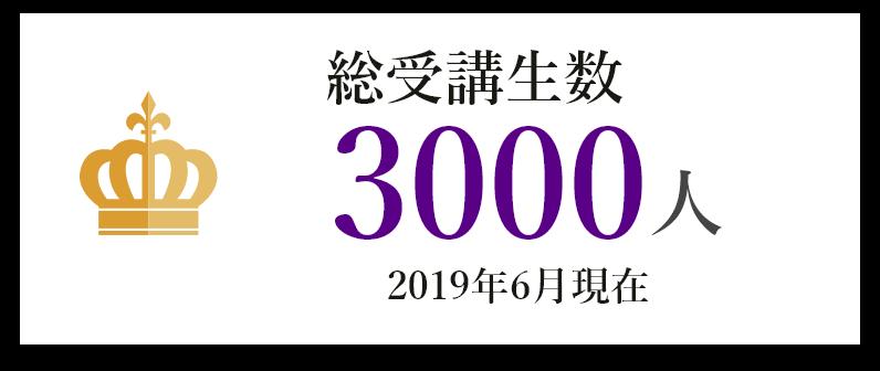 総受講者数 3000人